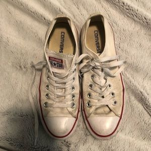 USED white converse.